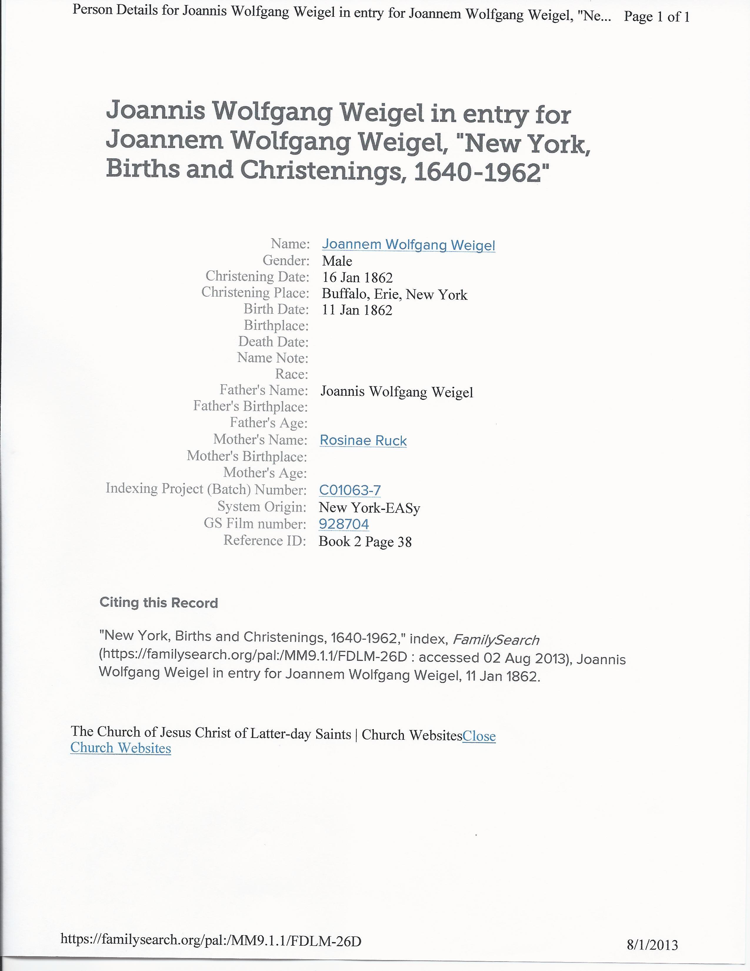 John Wolfgang Weigel