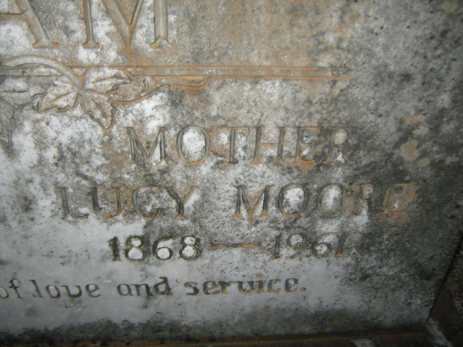Lucy E Moore