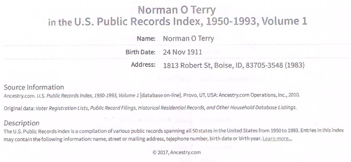 Norman Oliver Terry
