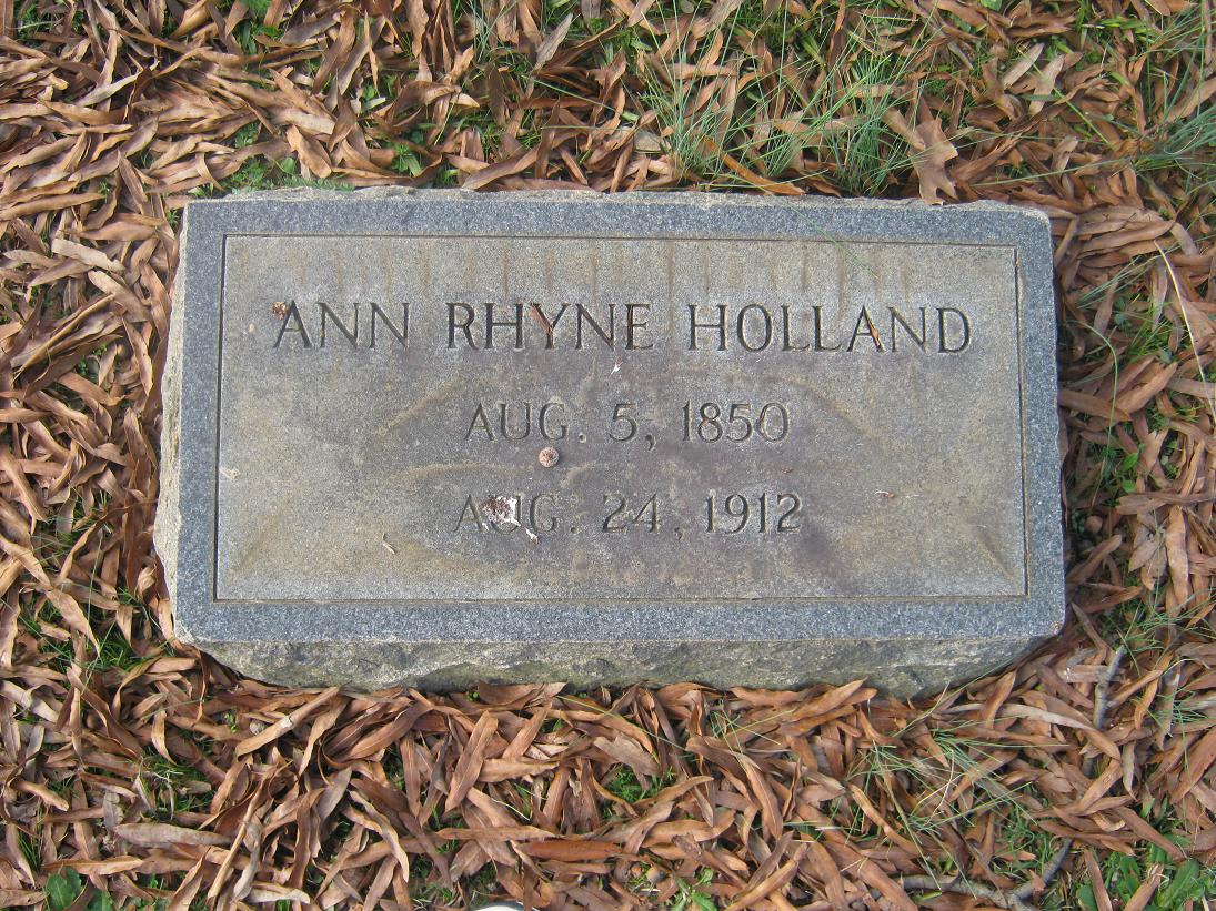 Nancy Ann Holland Rhyne