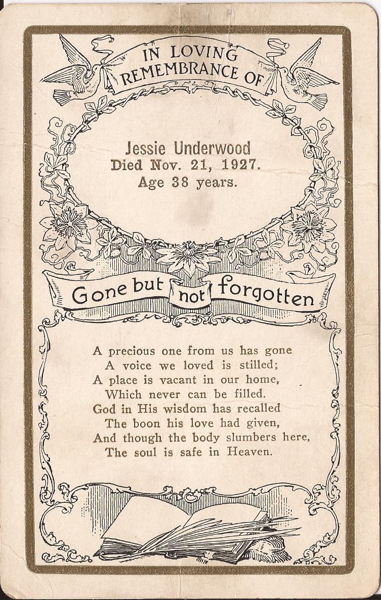 Jessie Edry Burke Lutes Underwood