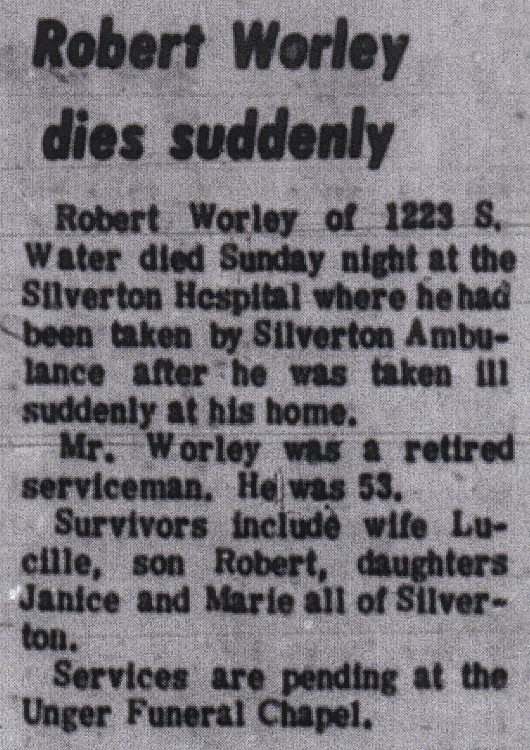 Robert Francis Worley