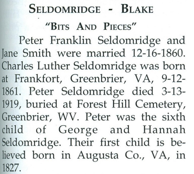 Peter Franklin Seldomridge