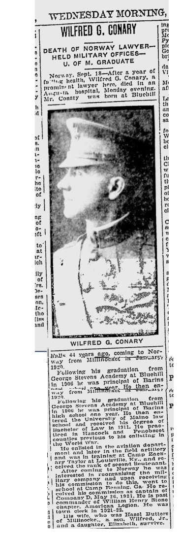 Wilfred Grindle Conary