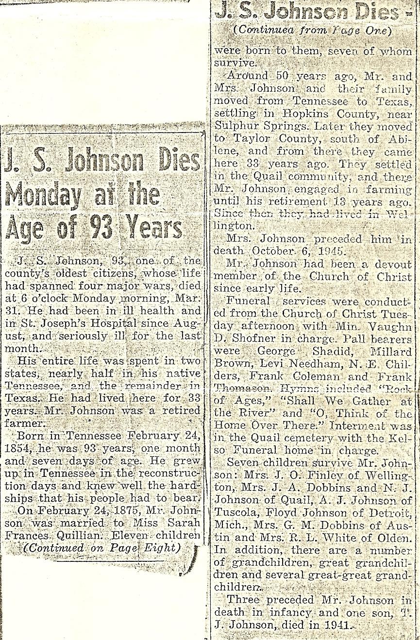 James S Johnson
