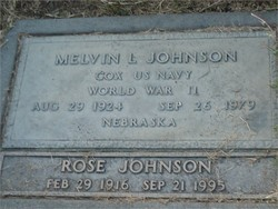 "Melvin LeRoy ""Bud"" Johnson"