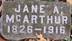 Jane A Brown Mc Arthur
