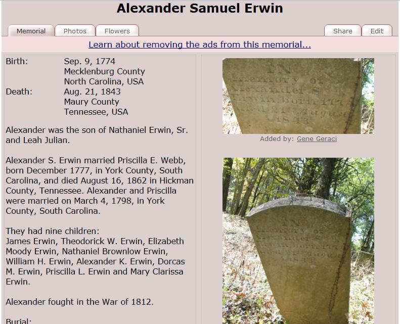 Alexander Samuel Irwin Erwin