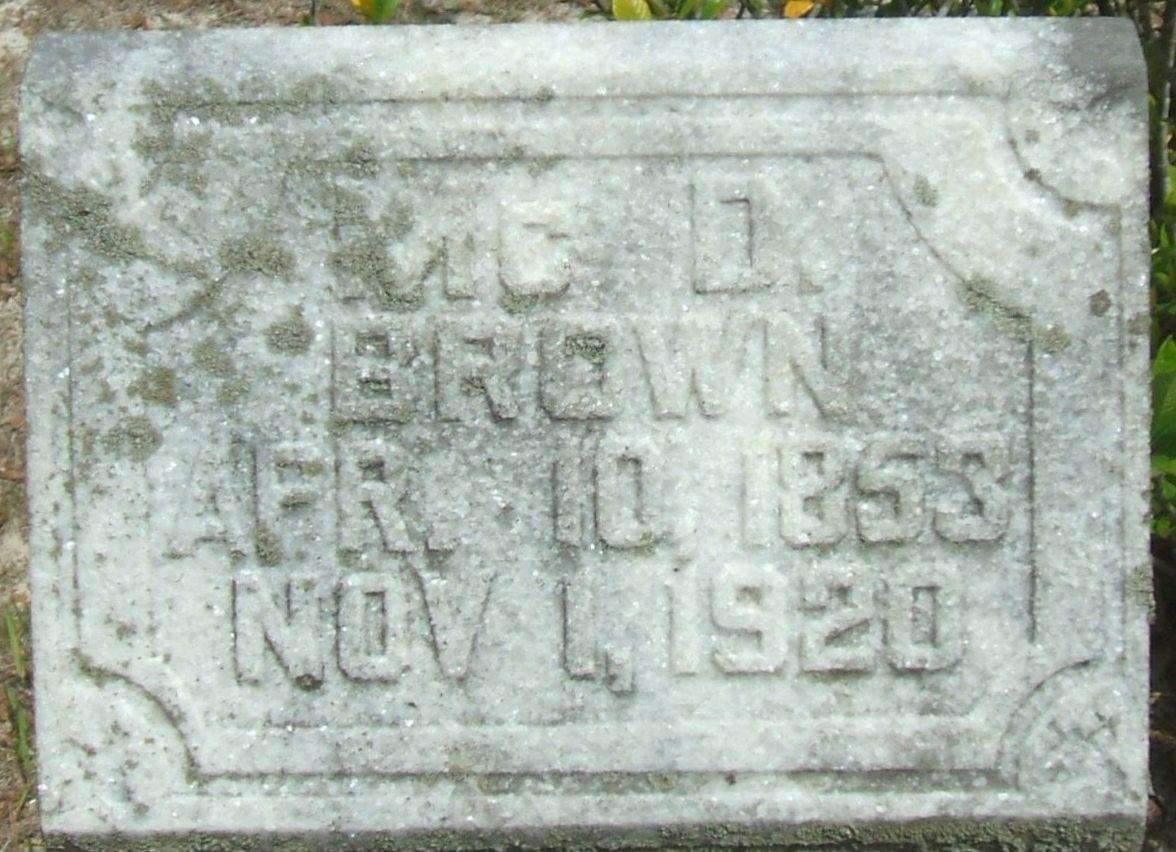 Geo. A. Mcd. Brown
