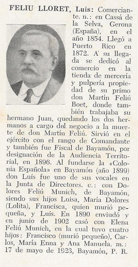 Luis Geronimo Francisco Feliu Lloret