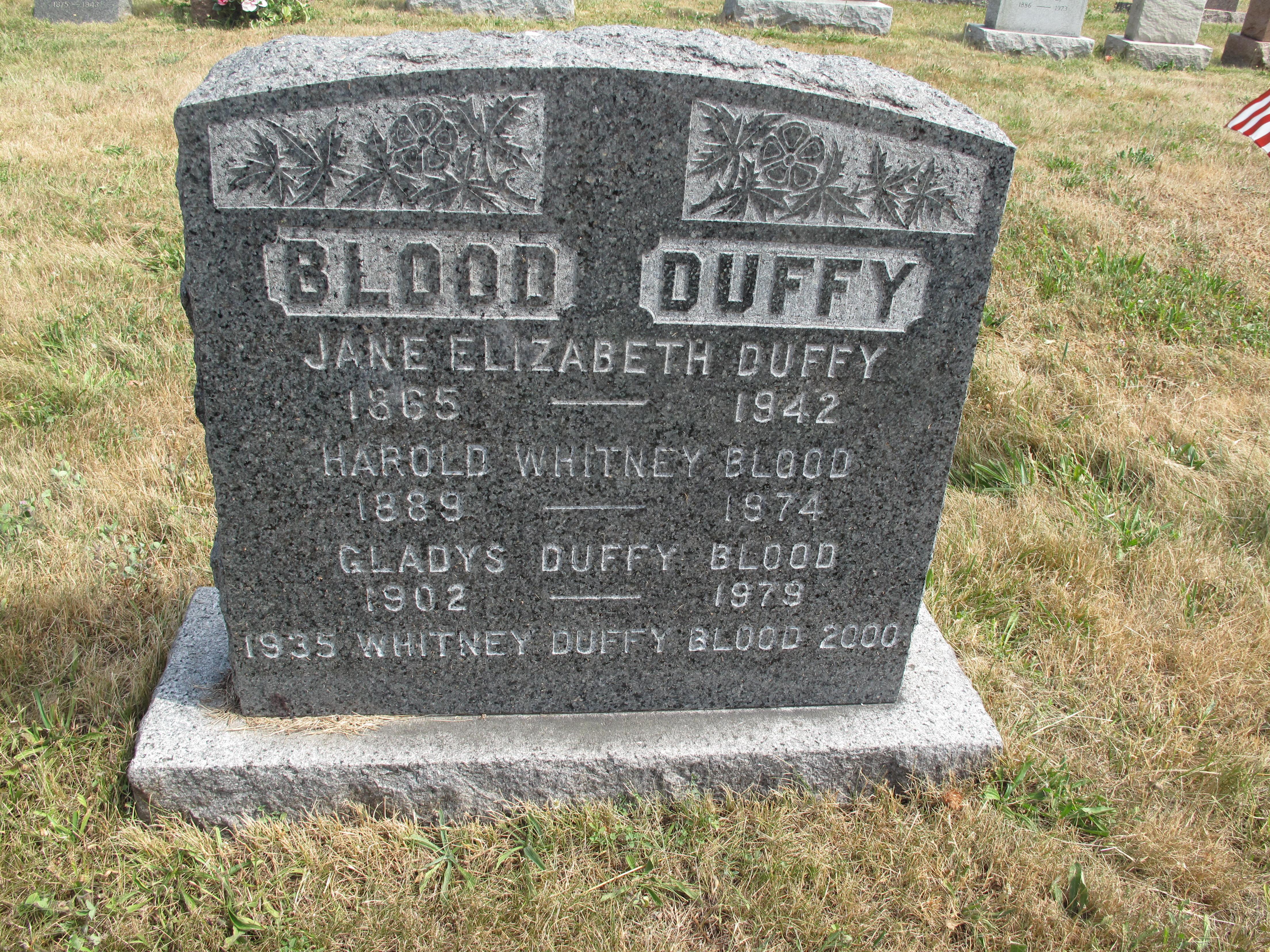 Whitney D Blood