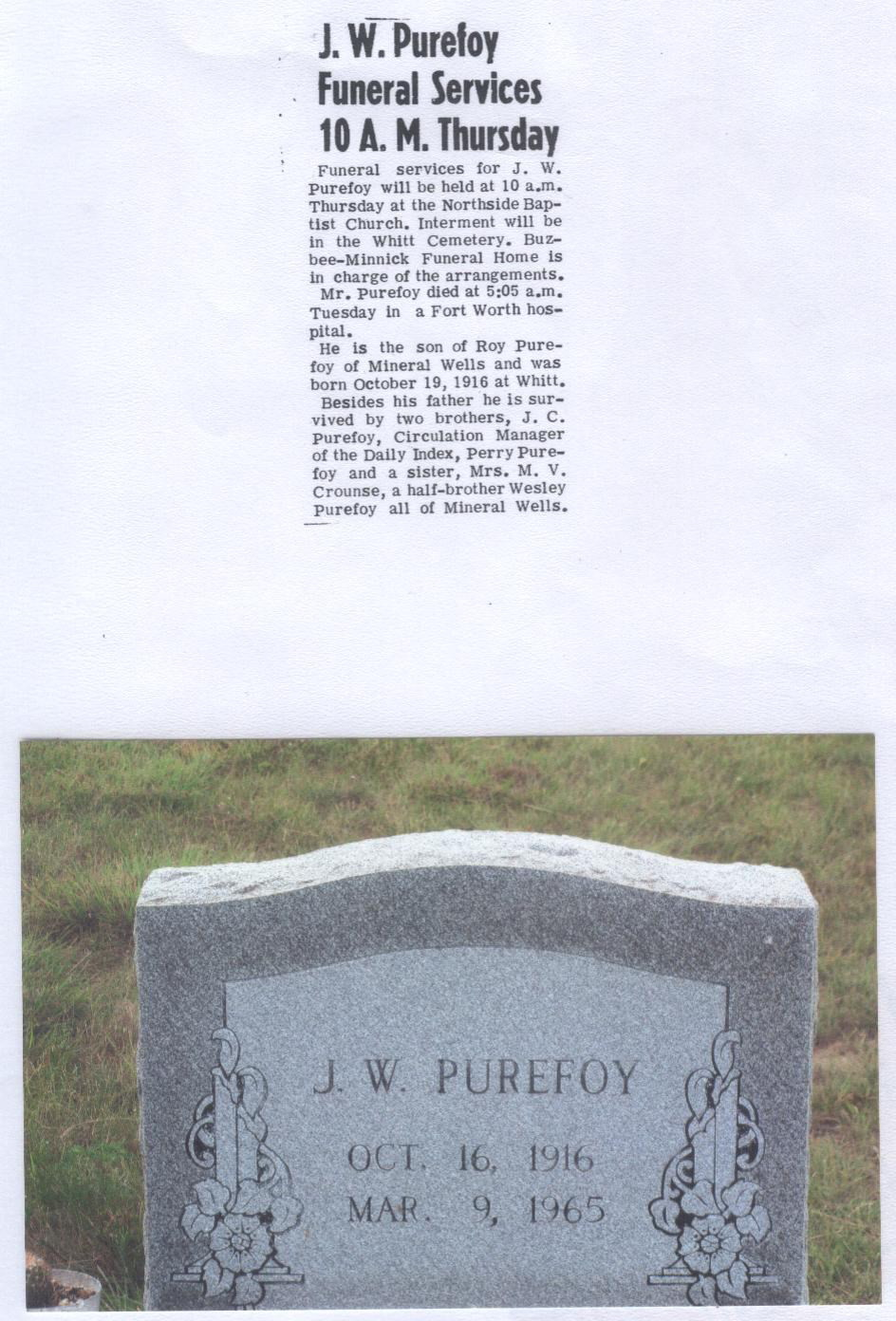 John William Rev. Purefoy