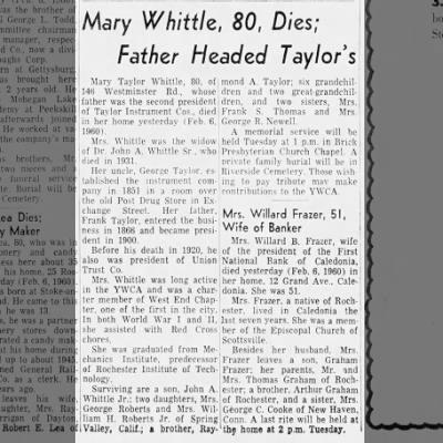 Mary A Taylor