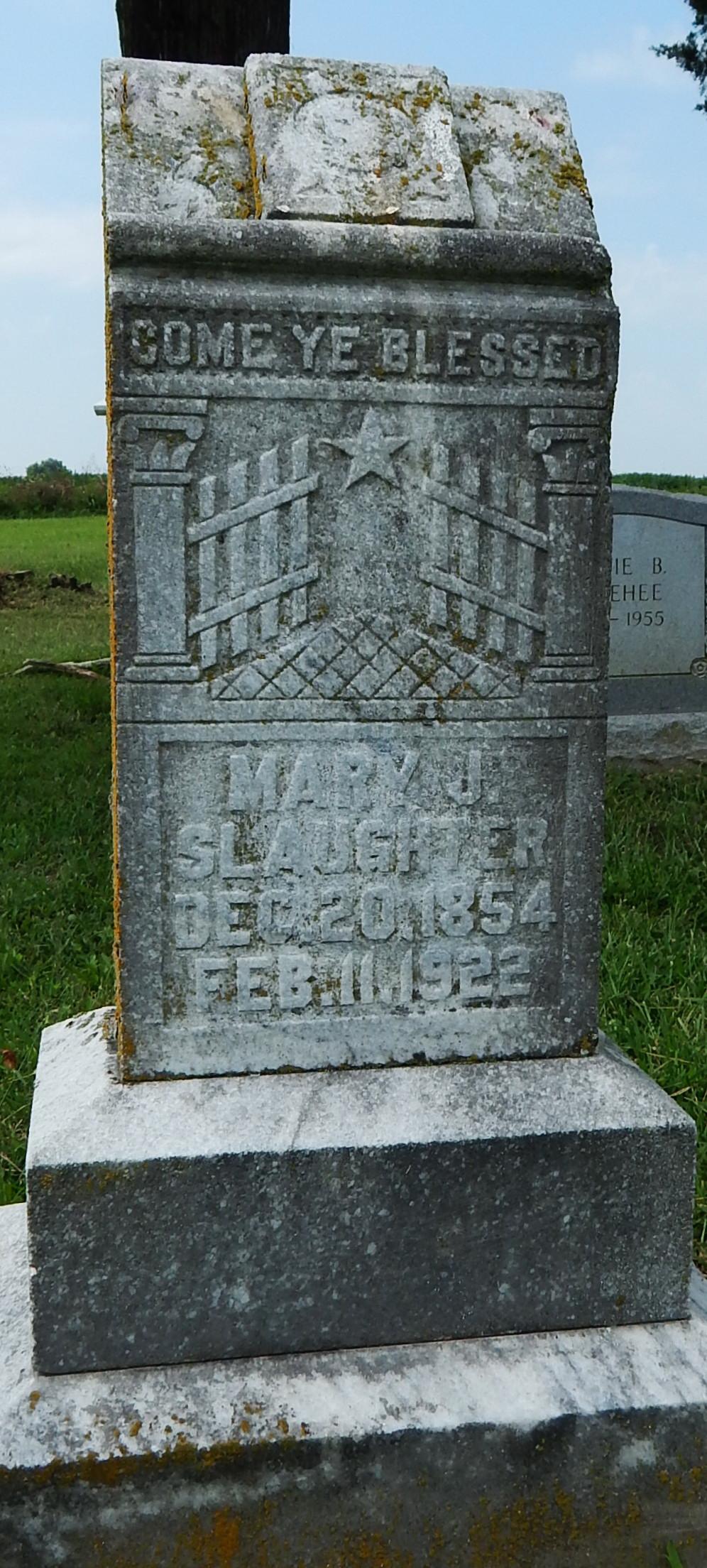 Mary Jane Shelton Rudd Slaughter