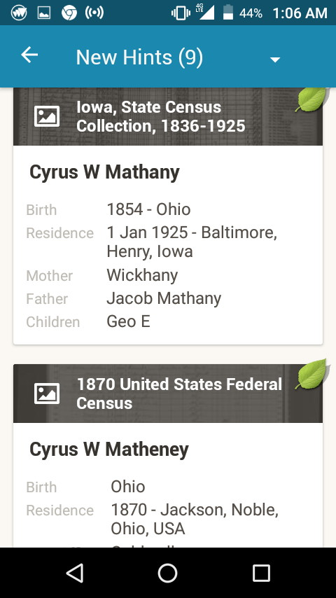 Cyrus J Matheny
