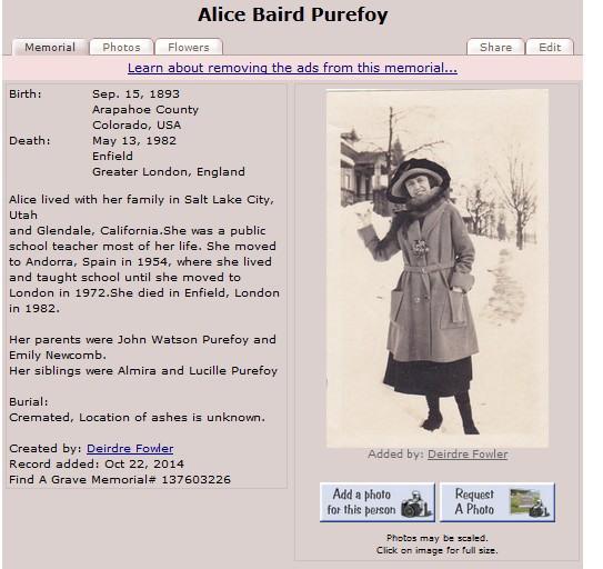 Alice Baird Purefoy
