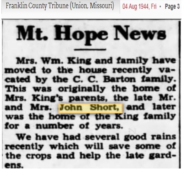 John C Short