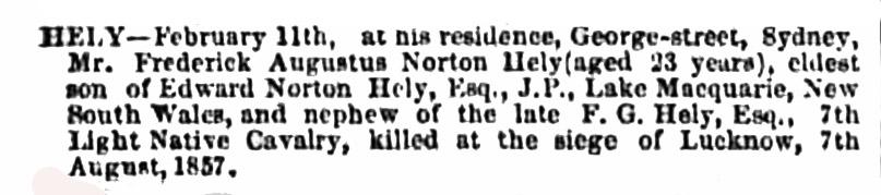 Frederick Augustus Norton Hely