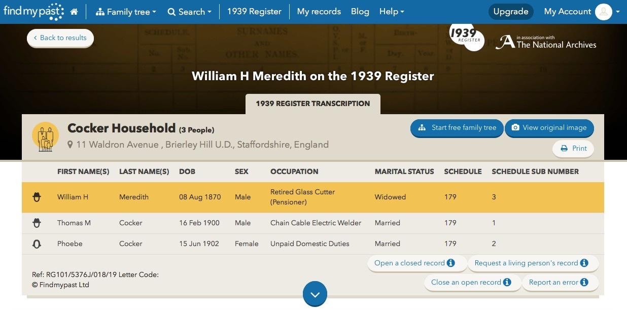 William H Meredith