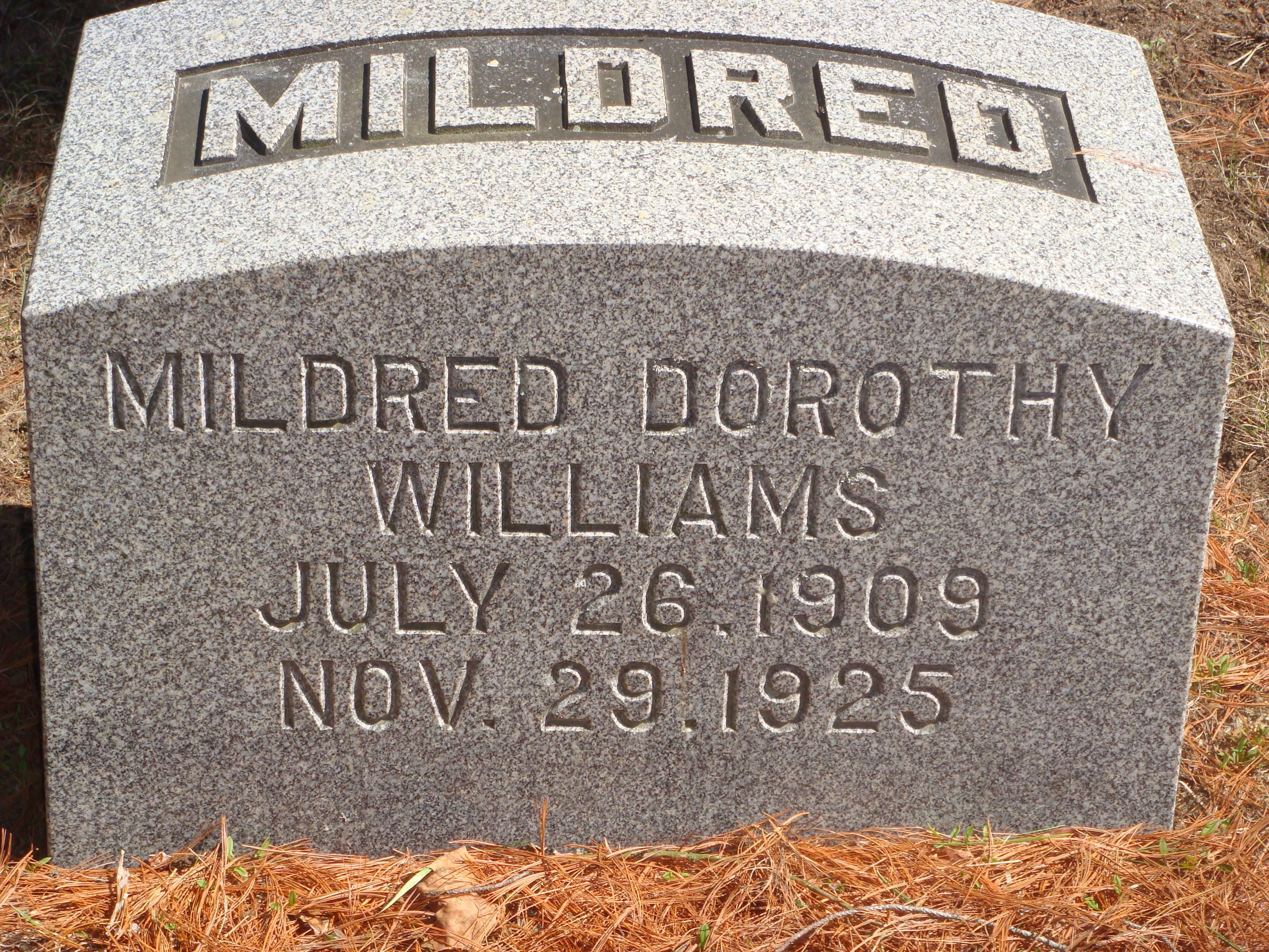 Mildred Dorothy Williams