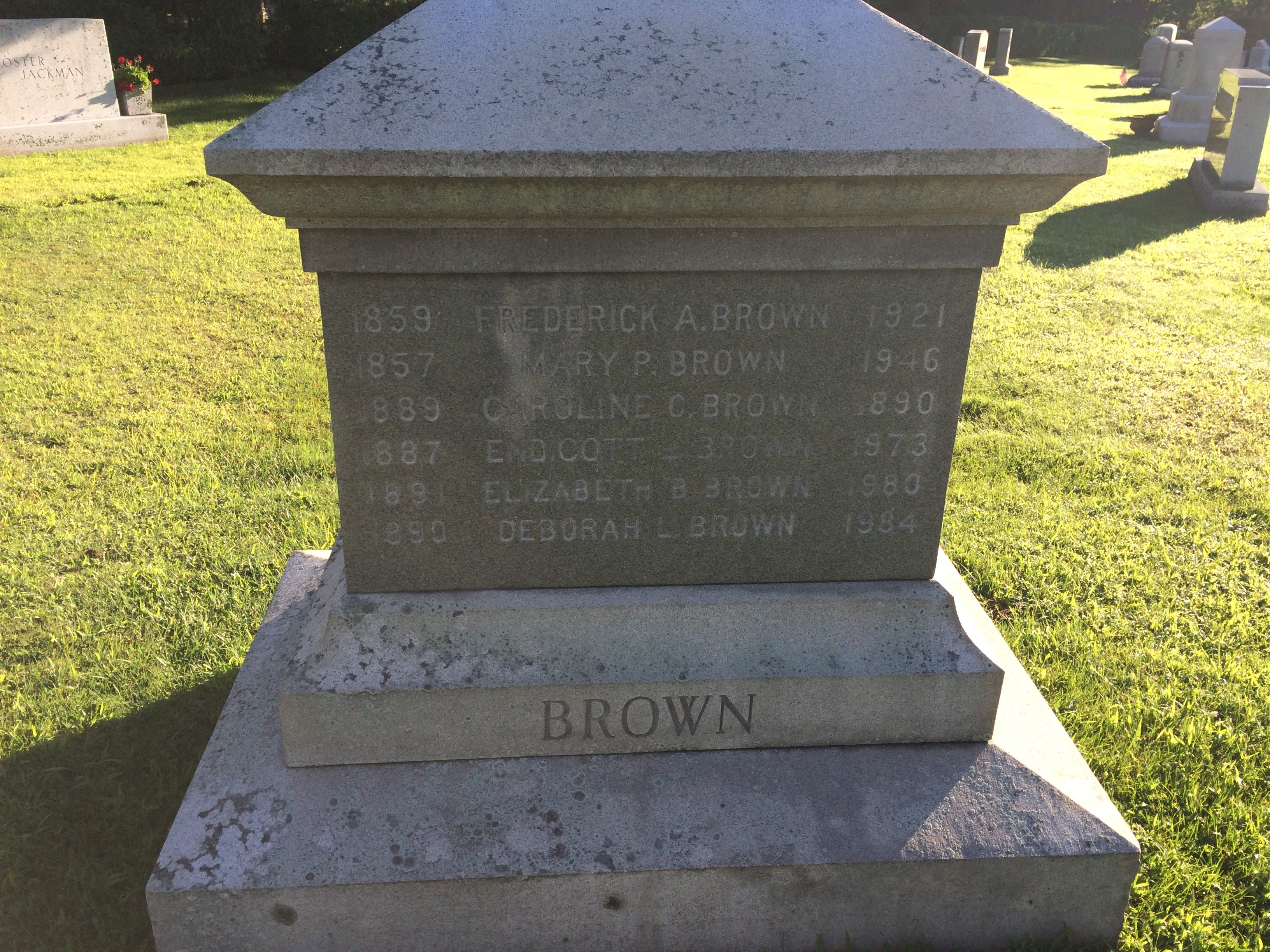 Frederick Augustus ' Fred' Brown