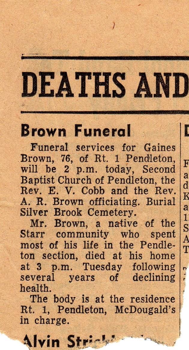 Gaines B Brown