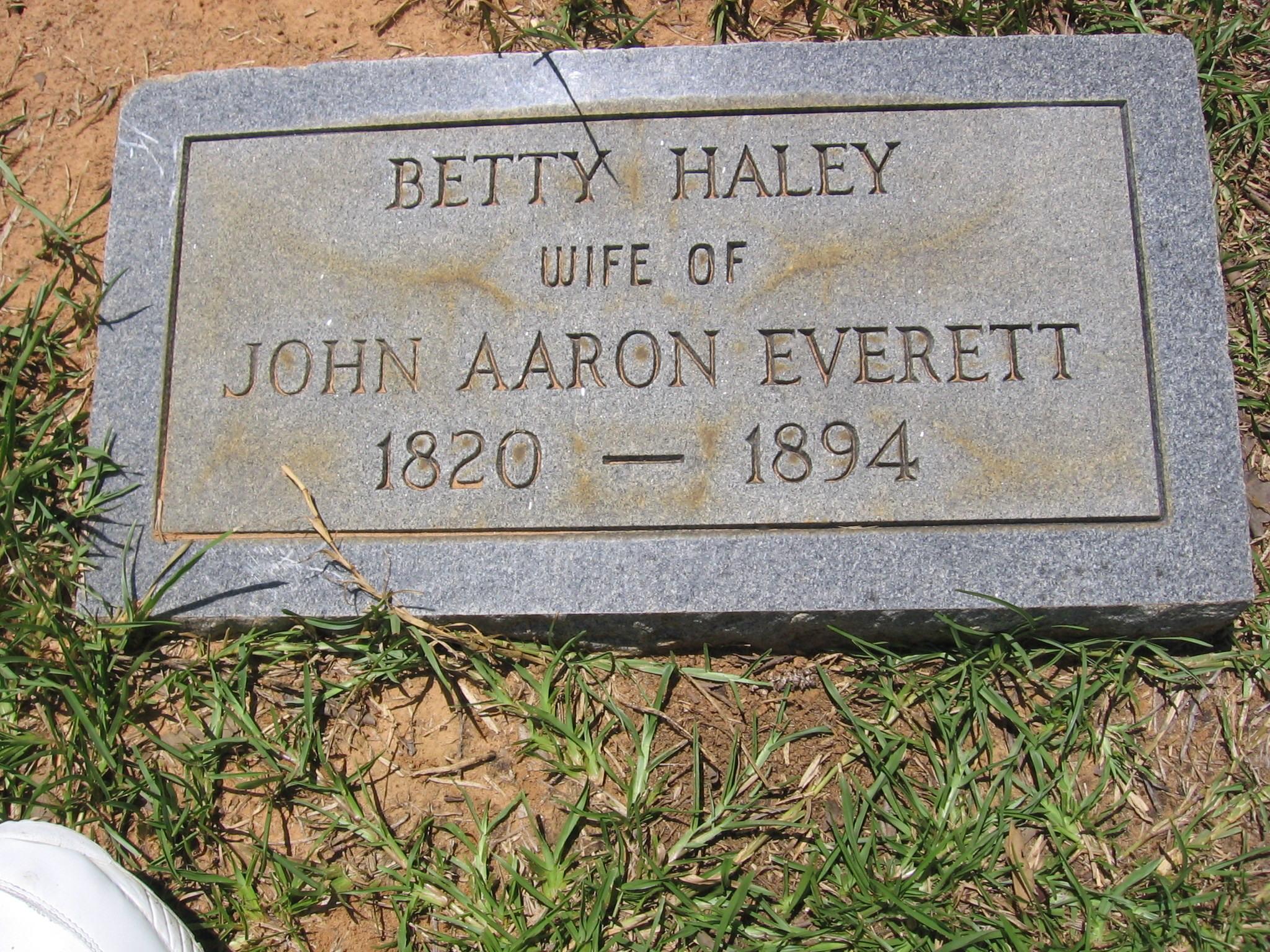 """Elizabeth """"Betty"""" Haley"""