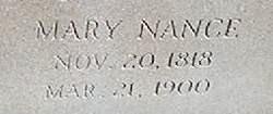 Mary Nance