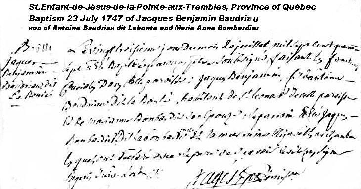 Jacques Benjamin Baudriau dit Labonte