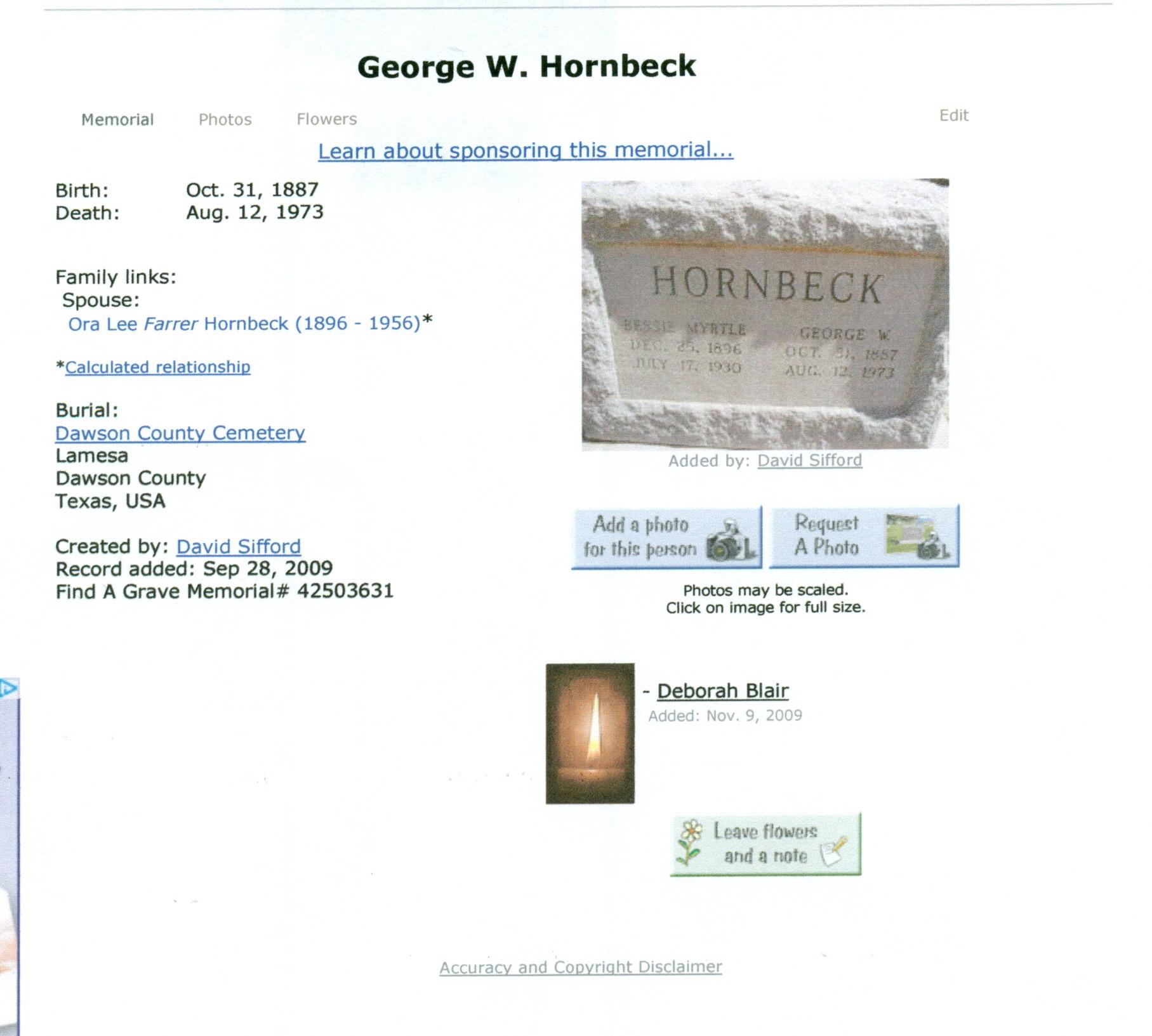 George William Hornbeck