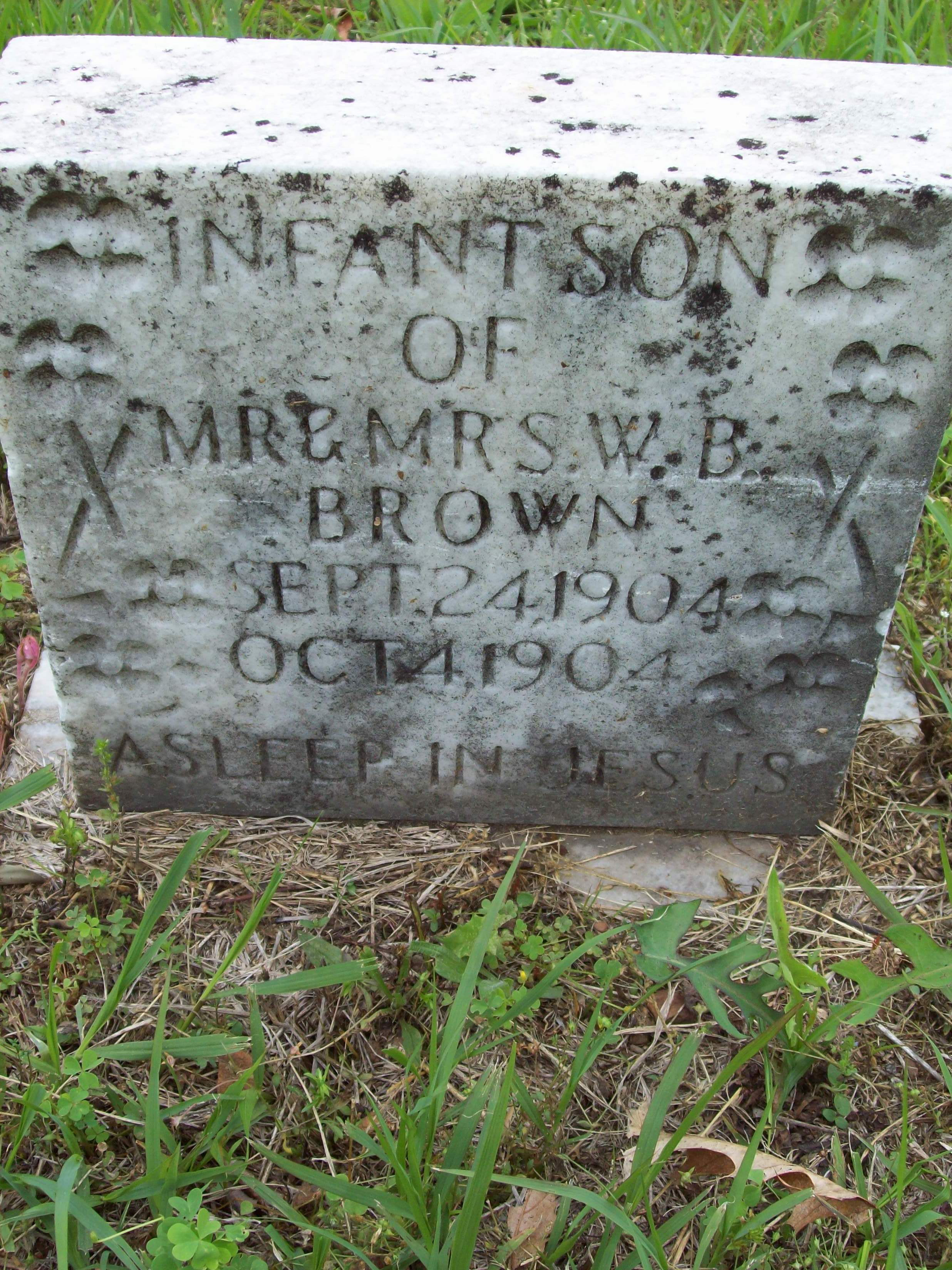 Infant son Brown
