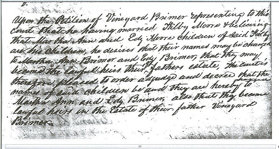 Edith Jane (d.of Phalby and Vineyard) Brimer