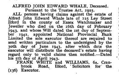 Alfred John Edward Whale