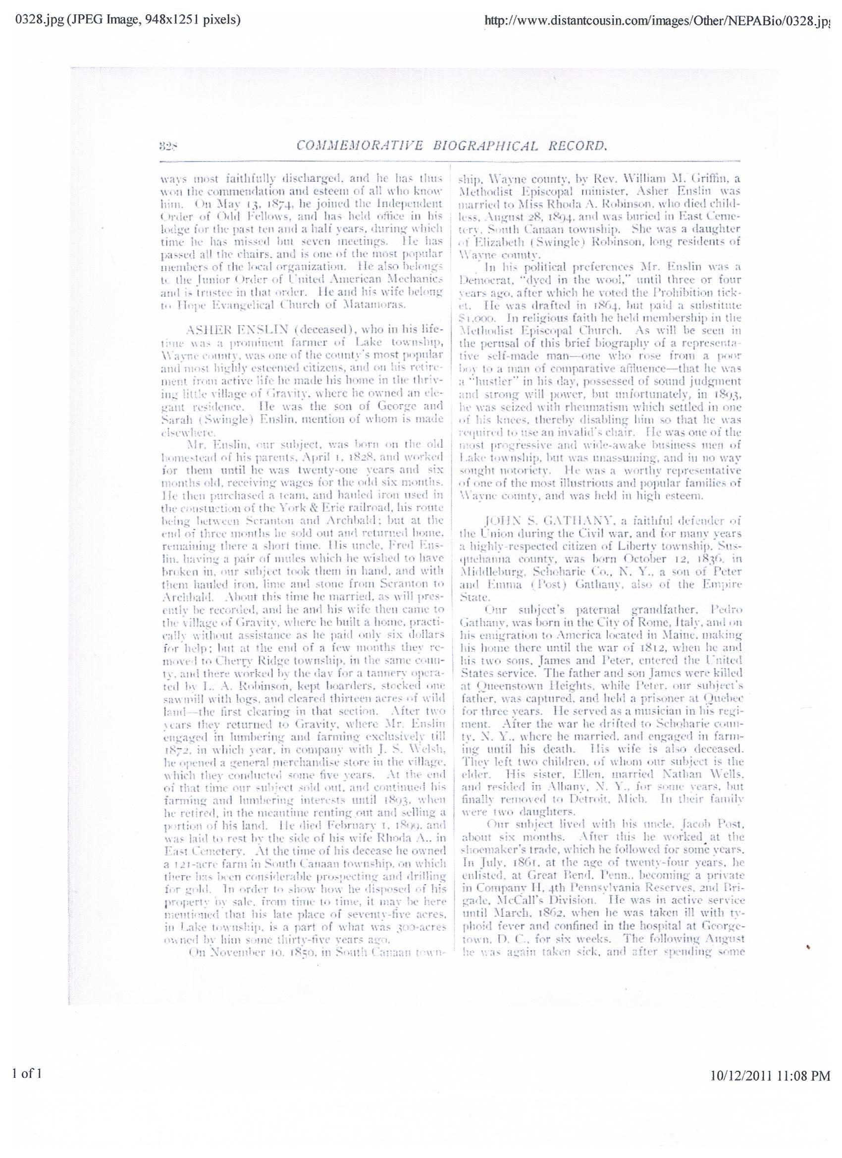 Frederick of Catherine Swingle/George Enslin