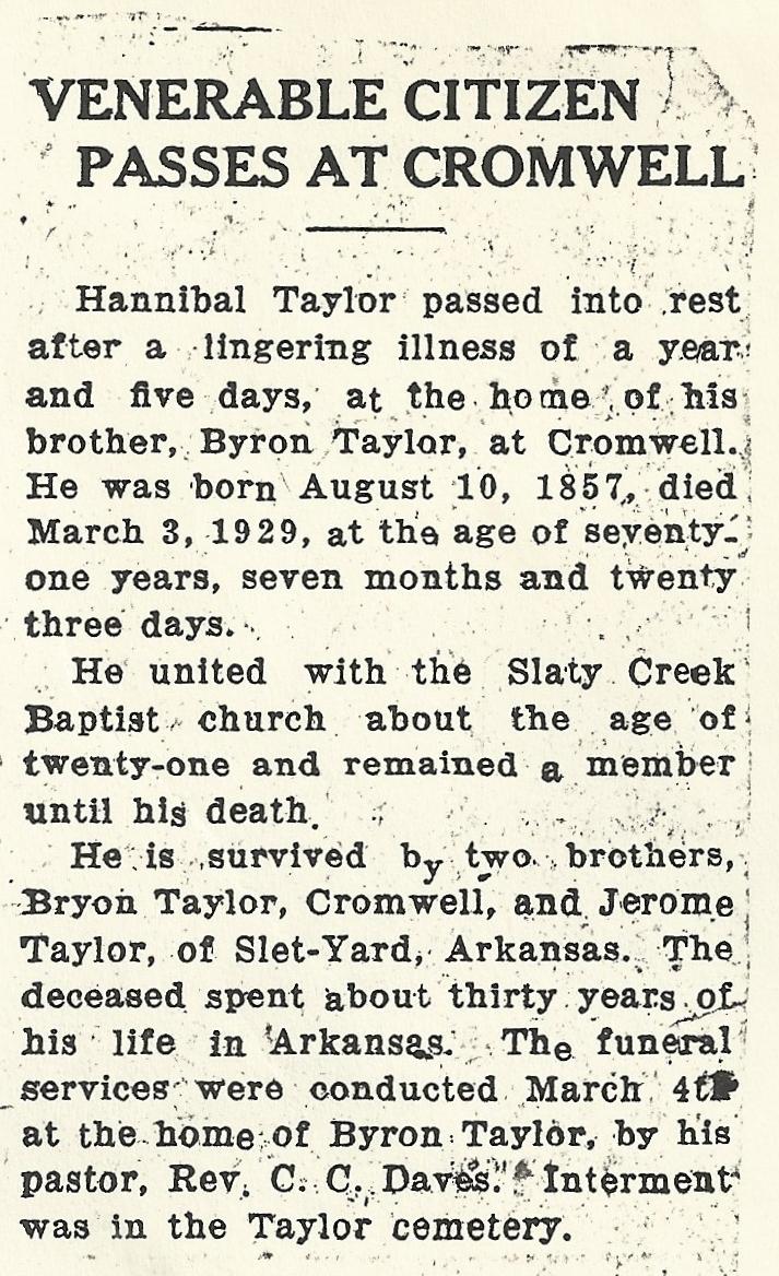Hannibal A Taylor