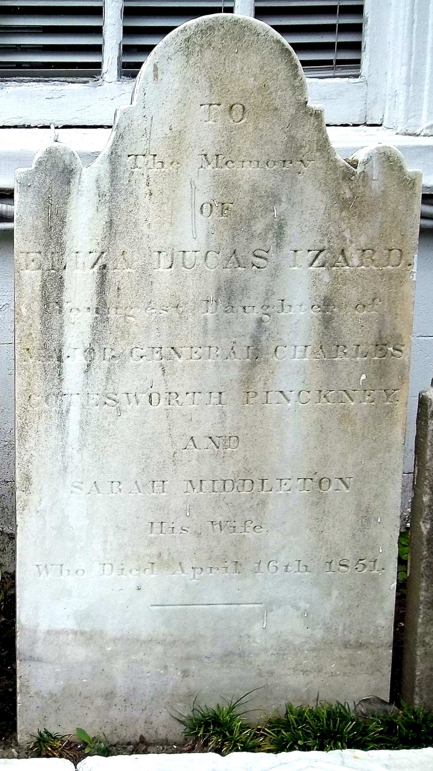 Elizabeth Middleton ( Eliza) Pinckney
