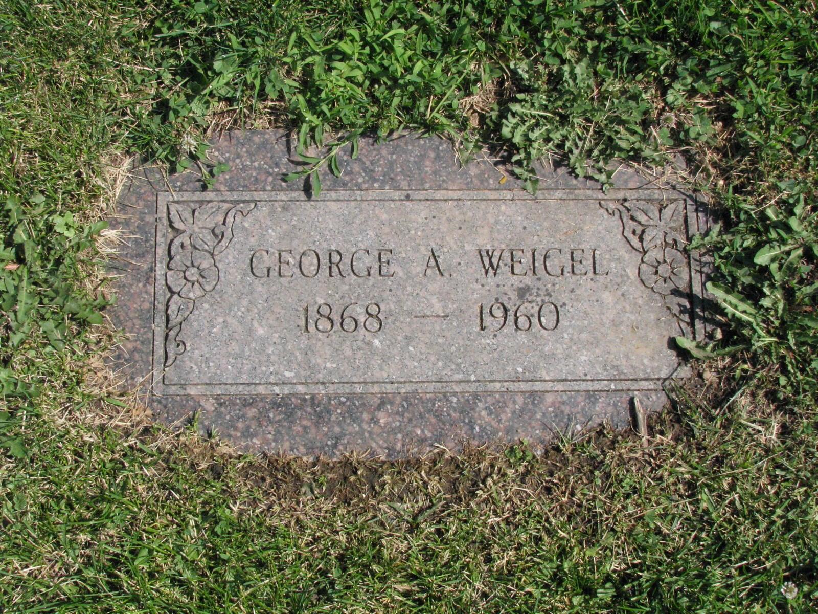 George A. (Elford?) Weigel