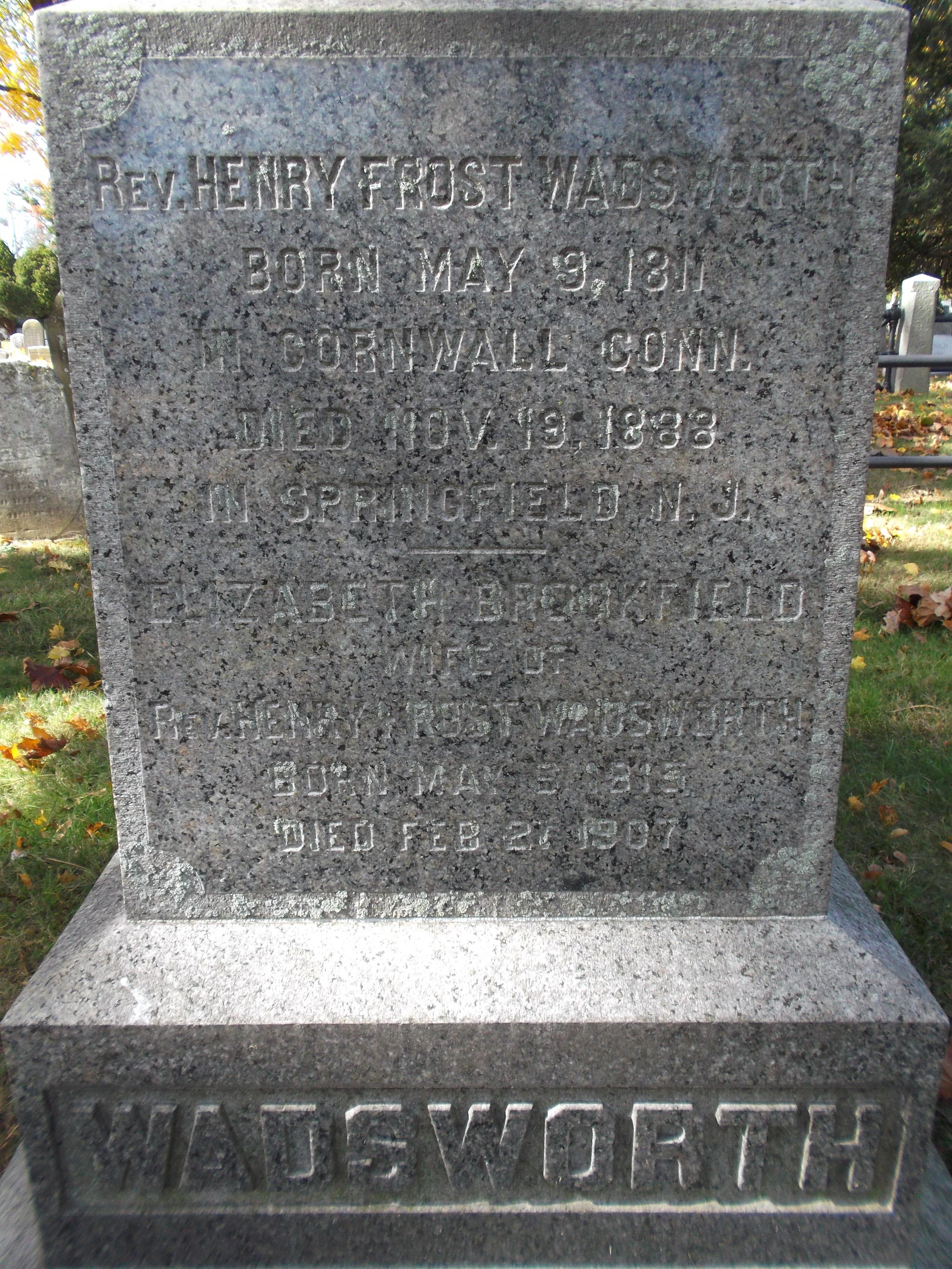 Rev. Henry Frost Wadsworth