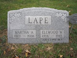 Elwood W. - VET/USN - ( s/o William 1884/Martha) Lape
