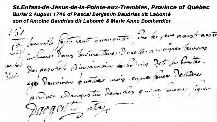 Pascal Benjamin Baudriau dit Labonte