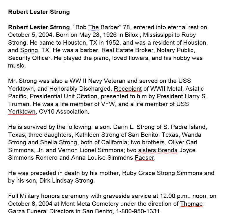 Lester Strong