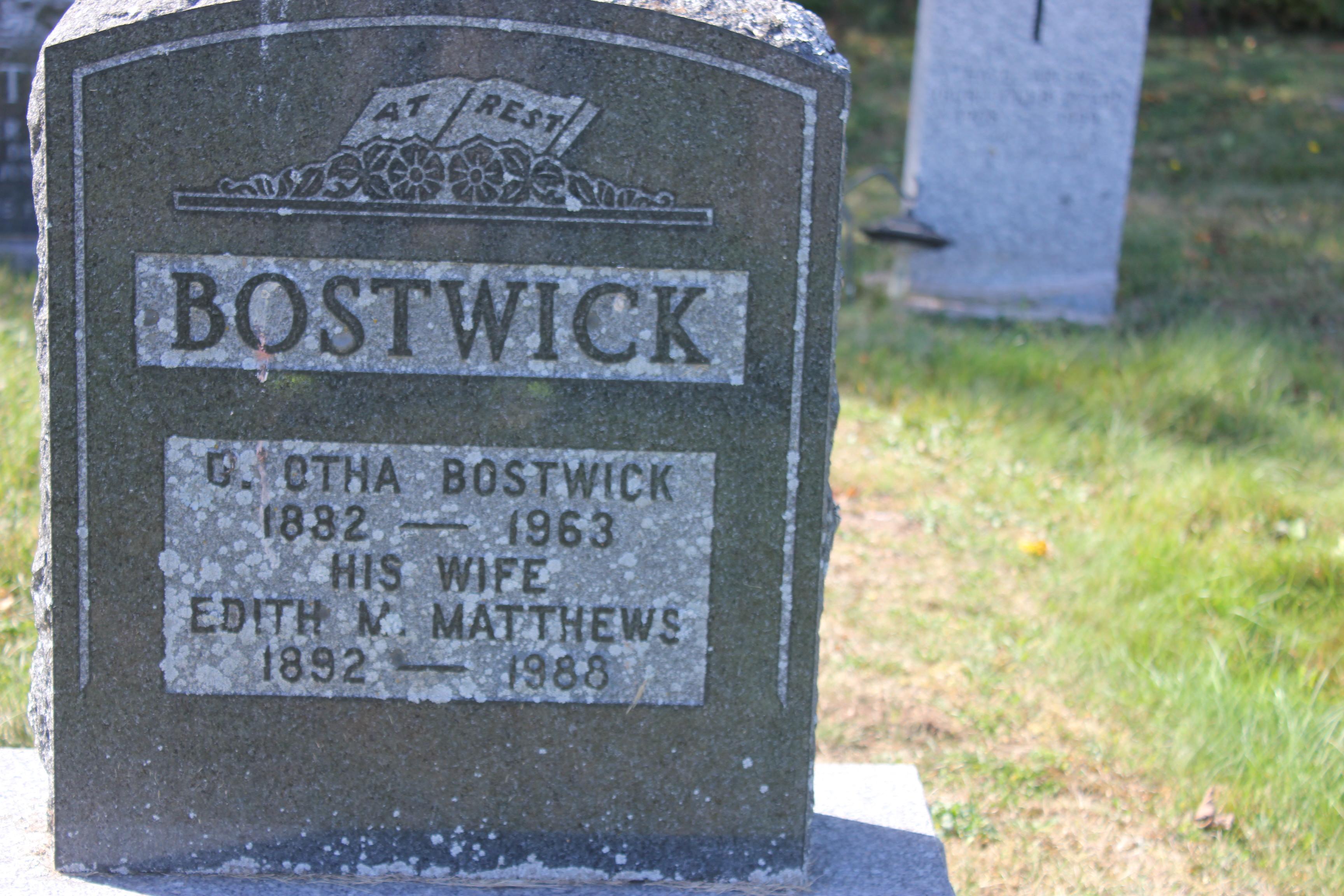 David Otha Bostwick