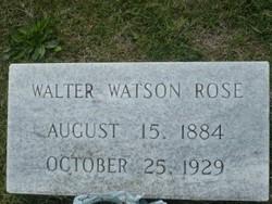Walter Watson Rose