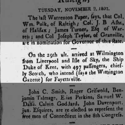 Duke of Kent - Ship - Wilmington 1802