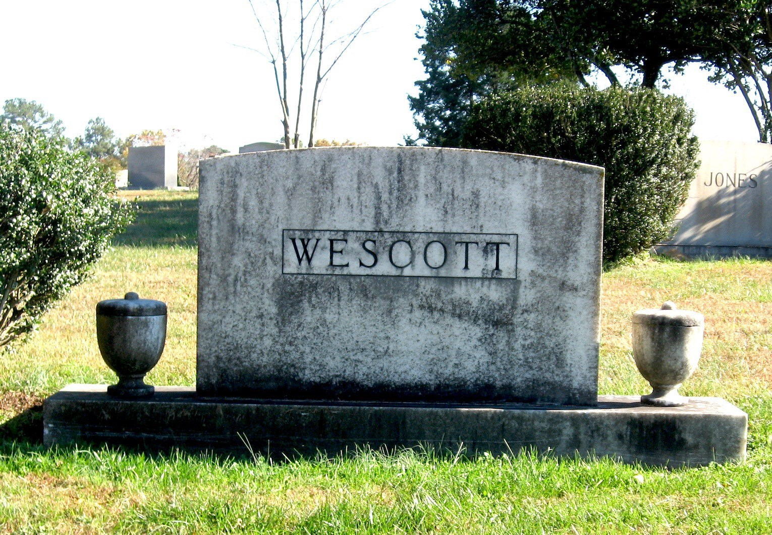 Wescott family plot