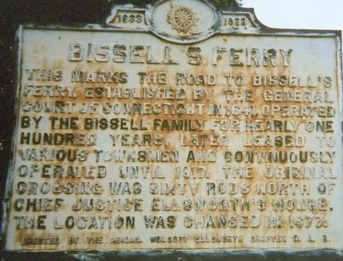 Bissell Ferry Sign in Wnidsor CT