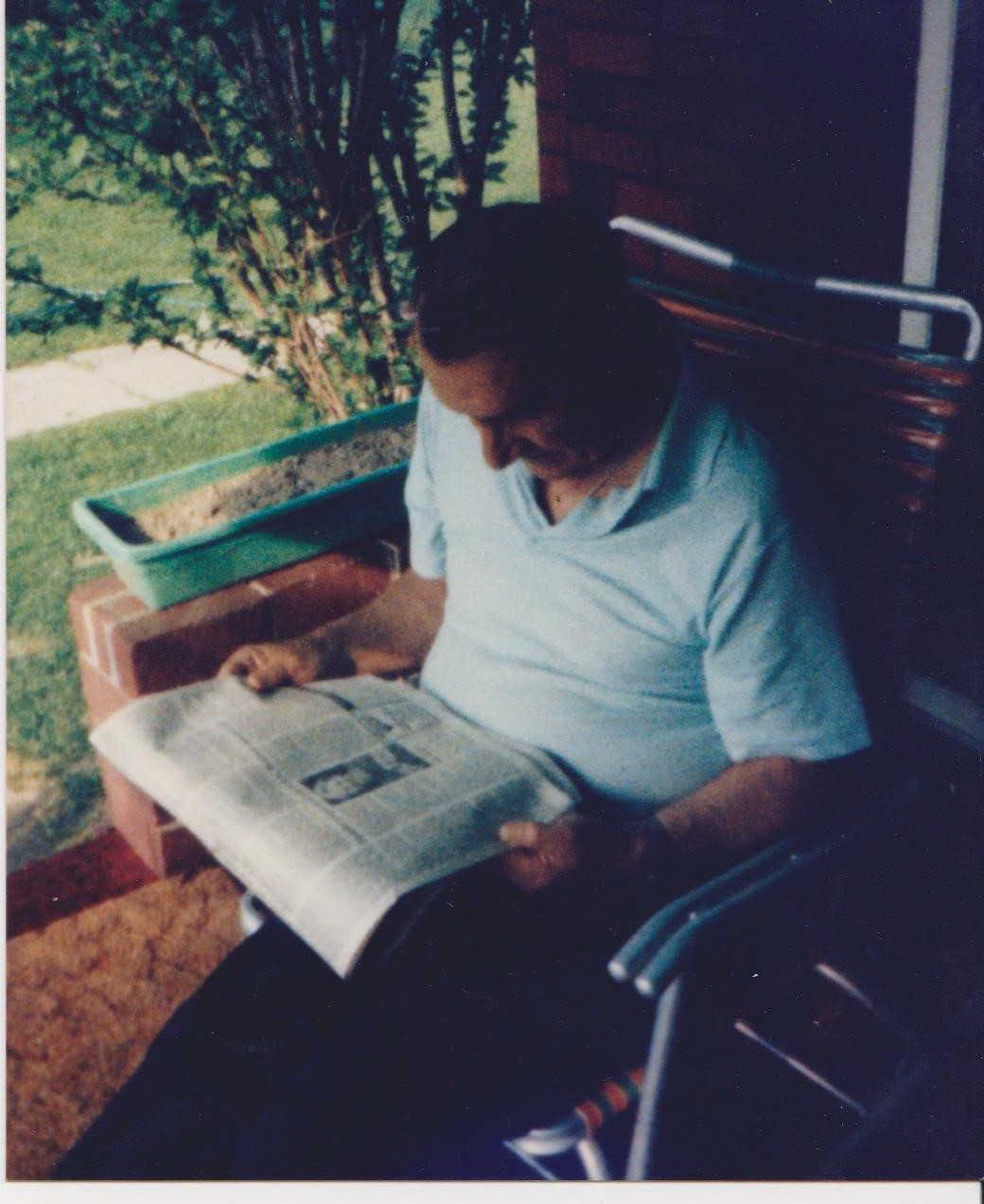 1985 Grandpa reading the paper