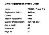Frank Redvers Victor Payne