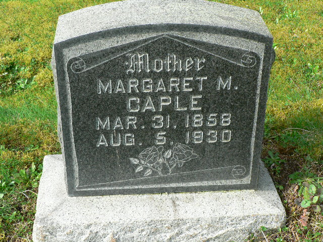 Headstone-Caple, Margaret Malinda (Ragsdale)