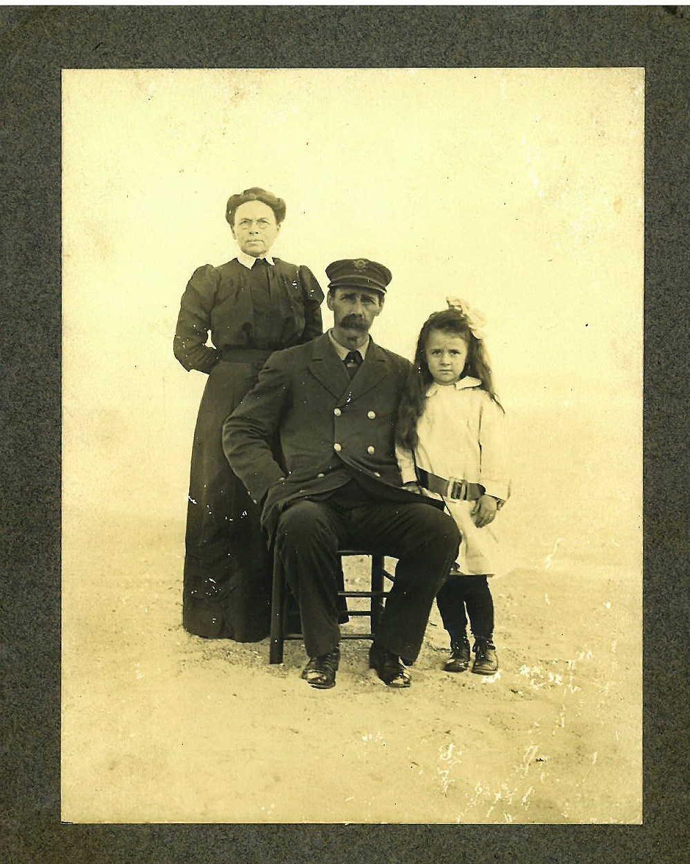 Martha Chadwick, John T. Wescott and Mabel Wescott circa 1910